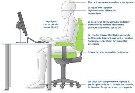 position au bureau adopter une bonne position au travail bien o bureau