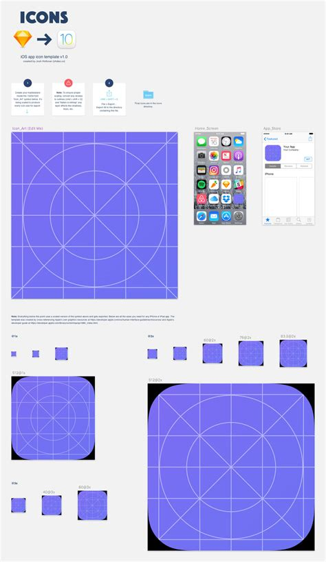 sketch ios template ios 10 app icon template for sketch 72pxdesigns