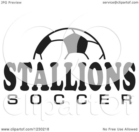 soccer team clipart black and white clipart of a black and white and stallions soccer