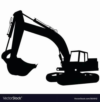 Excavator Vector Construction Royalty Vectors