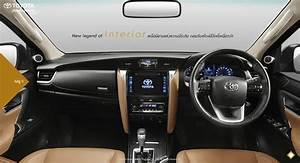2016 Toyota Fortuner interior revealed for Thai market ...