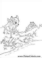 desenhos  pintar  colorir bambi imprimir desenho