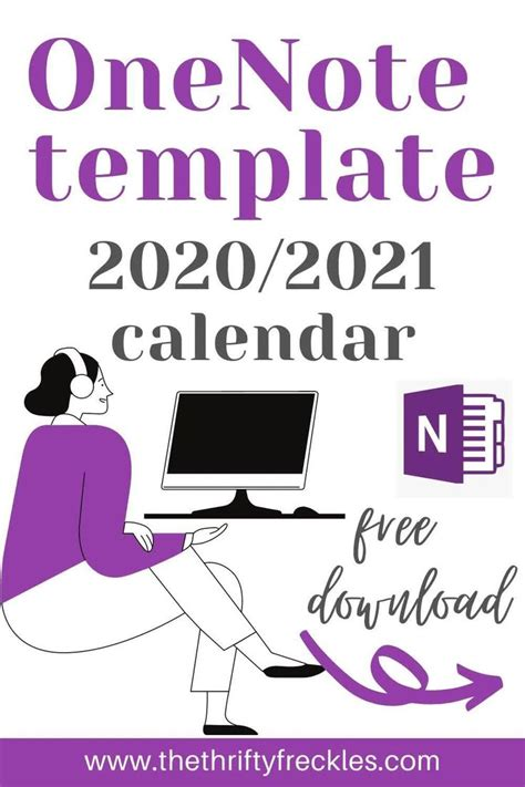 Free OneNote Template - 2020/2021 Calendar - The Thrifty ...