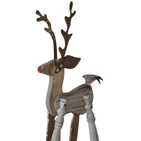 recycled salvage garden reindeer reindeer