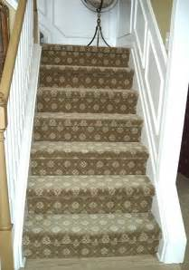 Patterned Carpet On Stairs