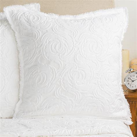 european pillow shams downtown cotton de chenille pillow sham 8112x
