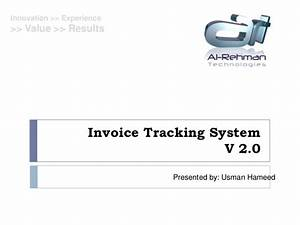 Invoice tracking payment processing system for Invoice payment processing system
