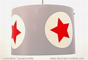 Abat Jour Chambre : abat jour enfant gris et rouge fabrique casse noisette ~ Teatrodelosmanantiales.com Idées de Décoration
