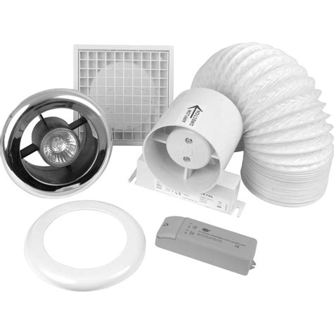 100mm inline shower extractor fan kit with light timer