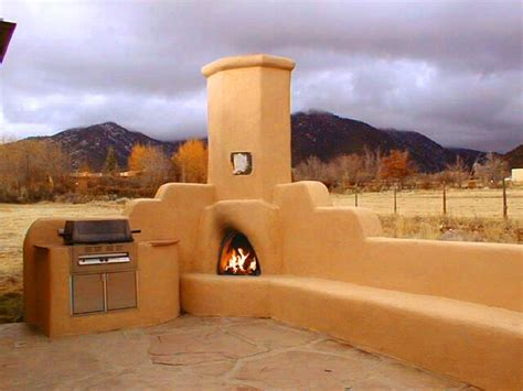Outdoor Kiva Fireplace For Outdoor Entertaining Day Or