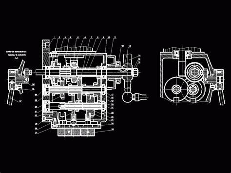 gearbox milling  dwg block  autocad designscad