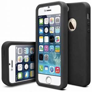 Coque Iphone 5 : coque antichoc 360 ultimate touch gel apple iphone 5 5s se noir ~ Teatrodelosmanantiales.com Idées de Décoration