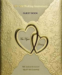 50th gold wedding anniversary guest book by henry kao With 50th wedding anniversary guest book