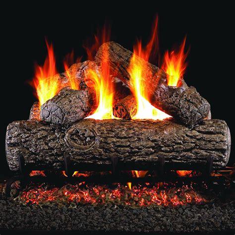 gas fireplace logs peterson real fyre 24 inch golden oak outdoor gas log set