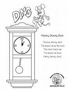 gallery hickory dickory dock coloring pages image 2 of 38