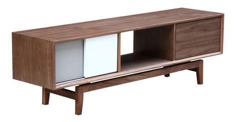 modern media credenza platform modern credenza media tv cabinet walnut wood ebay