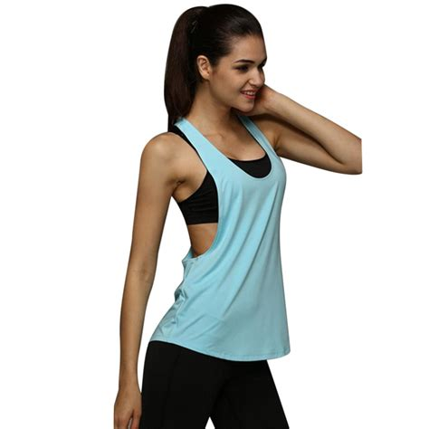 Plus Size S-XXL Summer Sexy Fitness Clothes Women Tank Tops Loose Workout Sleeveless Quick Dry ...