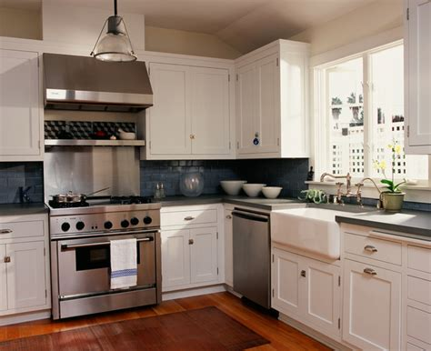 blue subway tile kitchen fireclay farmhouse sink kitchen traditional with apron 4841