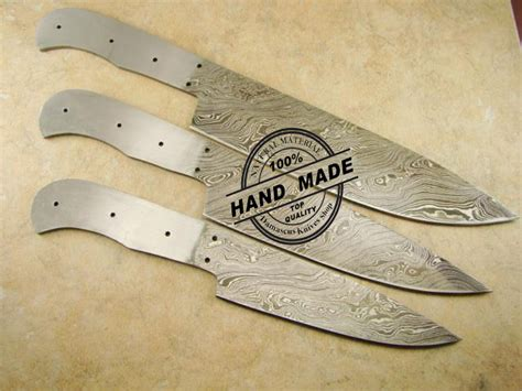 Custom Kitchen Knives For Sale by Lot Of 3 Pcs Professional Kitchen Chef S Knife Blank Blade