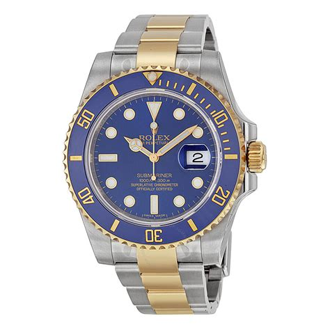 Rolex Submariner Blue Dial Stainless Steel and 18K Yellow ...