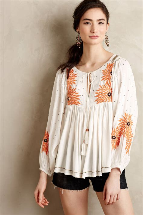 peasant blouses austral peasant blouse anthropologie