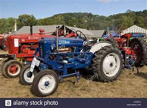 Antique 1964 Ford 2000 Offset Tractor On Display At