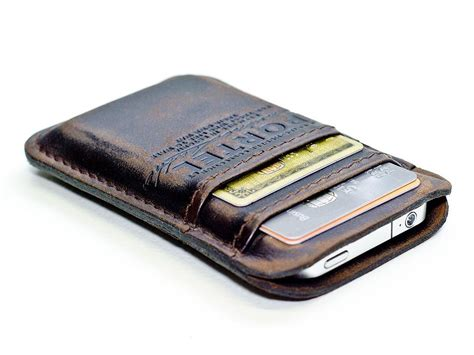 leather iphone handmade leather iphone wallet gadgetsin