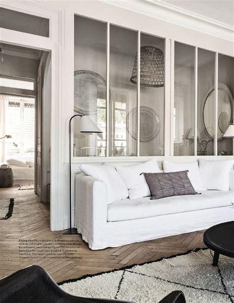 cour de cuisine lyon une verrière toute blanche blanc déco salon http