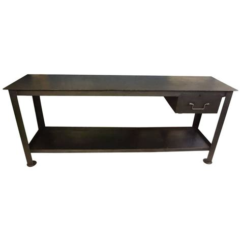 industrial metal console table 20th century industrial metal console table for sale at