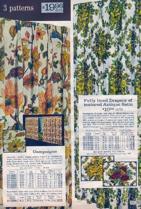 It Came From the 1971 Sears Catalog: Draperies II