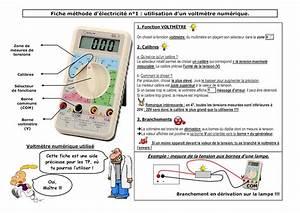 Utilisation D Un Multimètre Digital : calam o fiche m thode voltm tre ~ Gottalentnigeria.com Avis de Voitures