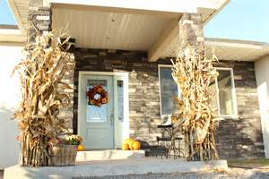 Decorating Corn Stalks Front Porch Style Wood Front Porch Ideas Style For Ranch Home