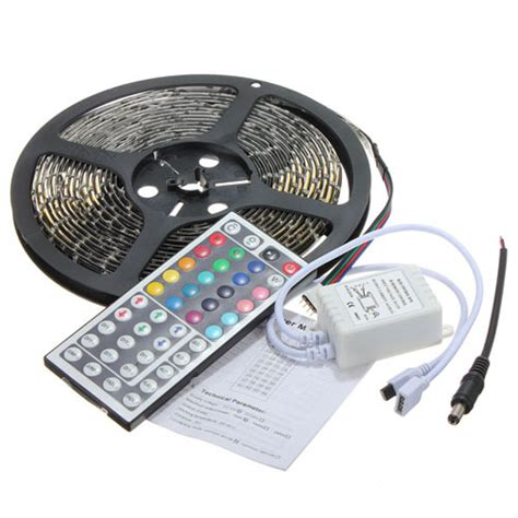 5m rgb 3528 led lights waterproof 300 led 44 key