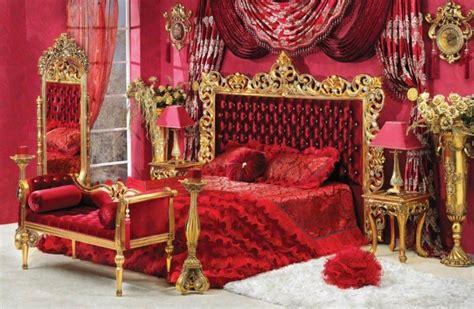 red  white capitone bedroom  gold finishtop