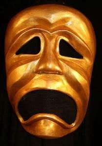 The Tragic Masks Represents Melpomene The Muse Of Drama