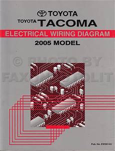2005 Toyota Tacoma Pickup Wiring Diagram Manual Original