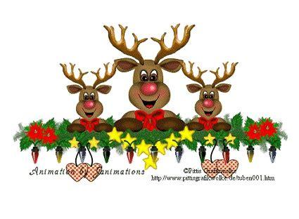 singing reindeer animated christmas pinterest