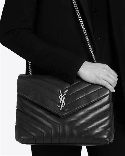saint laurent medium loulou chain bag  icy white  matelasse leather yslcom