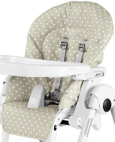 peg perego prima pappa zero 3 replacement high chair cushion babydot beige