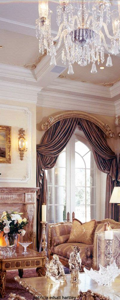 arched cornice double layer  drapery panels drapes