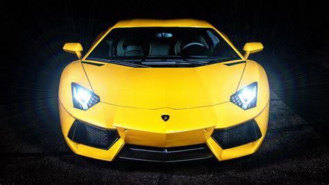 wallpaper lamborghini yellow sports car headlight