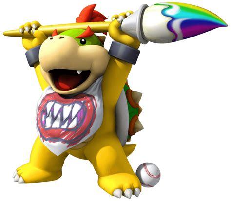 Mario Super Sluggers Wii Artwork Featuring All The Team