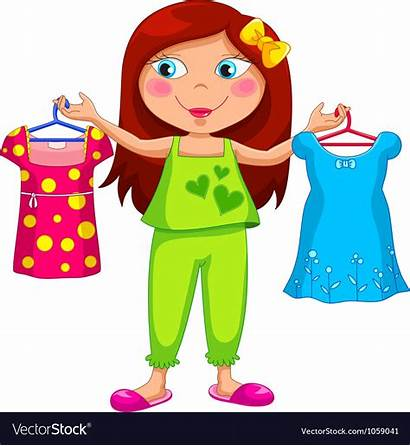 Dressed Clothes Getting Clipart Change Vector Changing