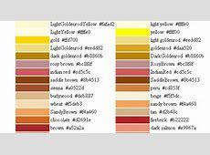 Colores por nombre RGB DiseñoTerapia