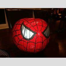 Spiderman Pumpkin Calabaza De Spiderman  • Halloween