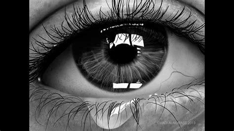 shed tear realistic eye shed tears speed painting photoshop cs6