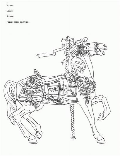 Coloring Pages Carousel Lightsaber Horse Horses Animal