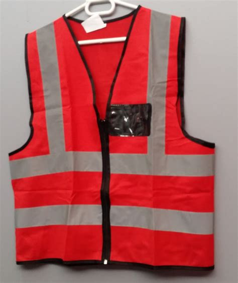 red reflective vest fire marshal simply workwear
