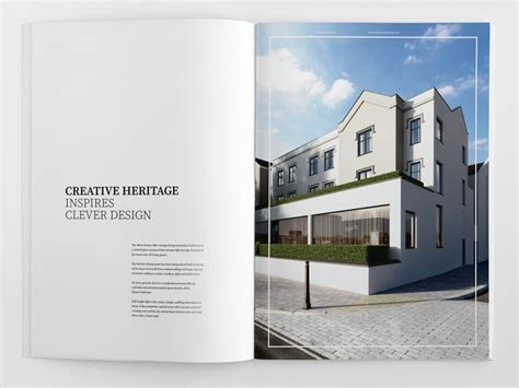 property pamphlet elegant brochure design townhouse mews
