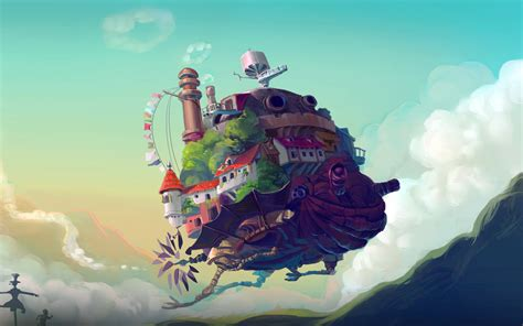 Anime Illustration Wallpaper - at58 studio ghibli castle anime peace illustration
